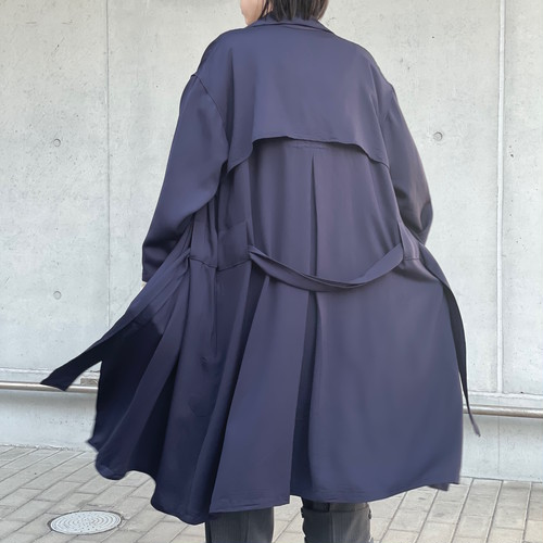 【ethical hippi】big trench coat (navy) / 【エシカル ヒッピ】ビッグトレンチコート(ネービー)