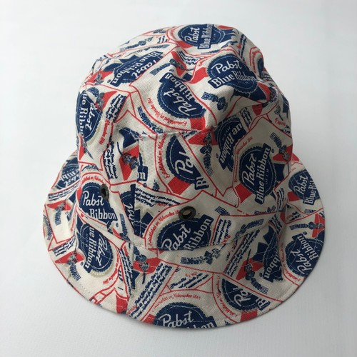 パブスト 総柄ハット PABST BLUERIBBON BEER REPLICA BUCKET HAT 58-59cm