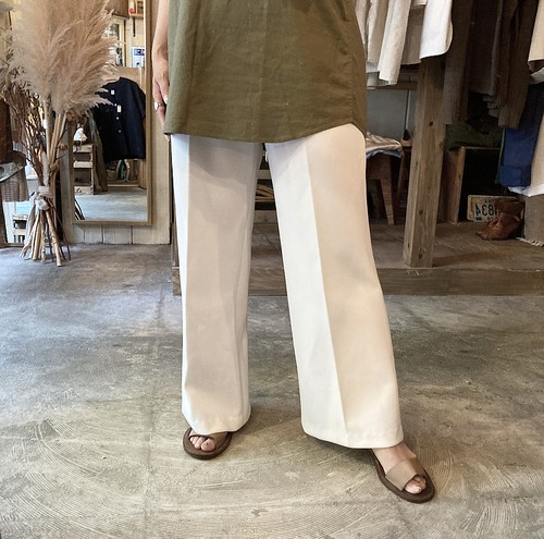 white wide easy pants
