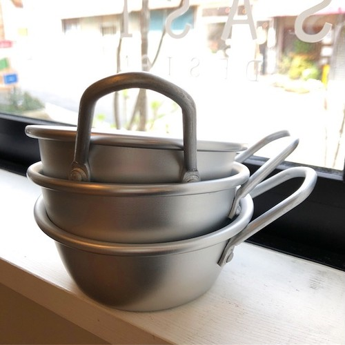 松野屋 アルマイト韓国マッコリコップ 13cm シルバー
