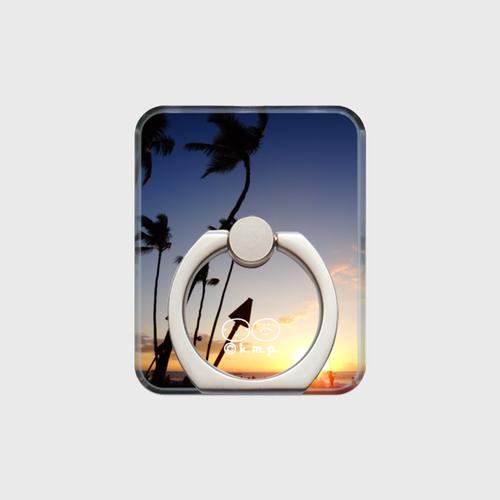スマホリング(001ハワイ島の夕陽)