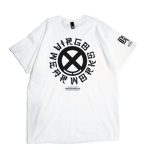 "VIRGOwearworks / ヴァルゴウエアワークス   BOUNTY HUNTER × VIRGOwearworks "" CHIN CIRCLE LOGO TEE "" - white"