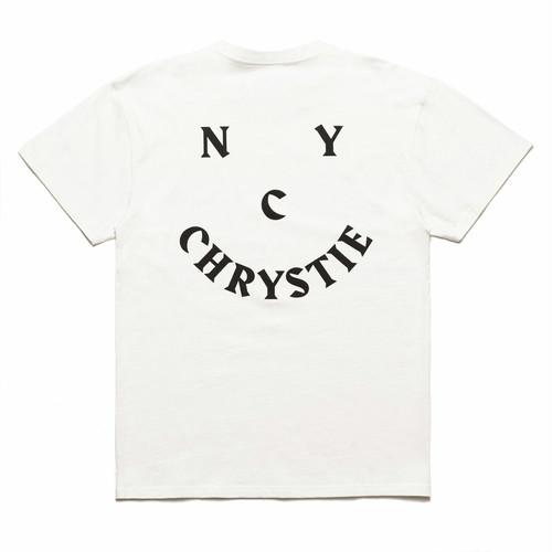 CHRYSTIE NYC / CHRYSTIE SMILE LOGO T-SHIRT -WHITE-