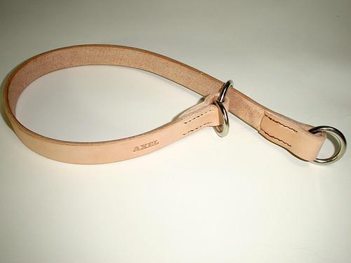 ヌメ革 チョーク首輪(2.5cm or 3cm幅)
