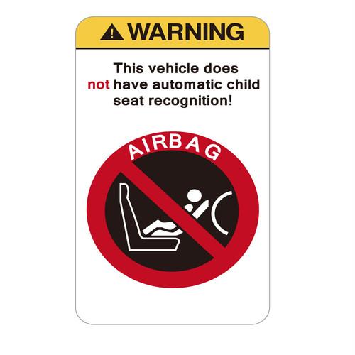 """337 チャイルドシート認識機能はついていません。child seat recognition   """"California Market Center"""" アメリカンステッカー スーツケース シール"""