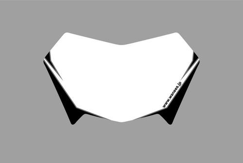 WR250R/X フロントゼッケンデカール ブラック