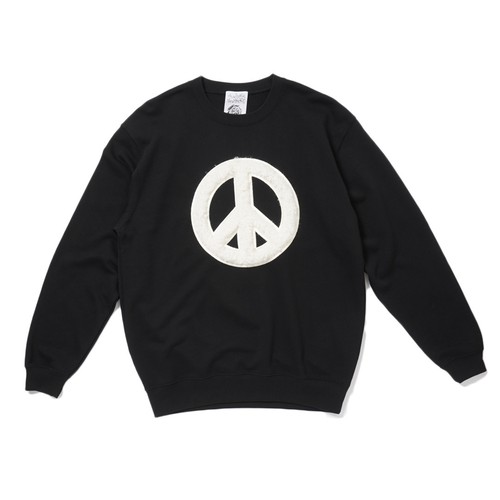 AVAILABLE NOWHERE PEACE TALKS FAKE FURRY SWEAT(BLACK)
