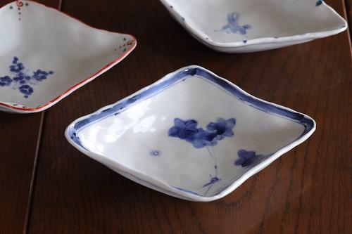 松尾貞一郎 ひし形取皿 191217-K11 貞土窯(有田焼)