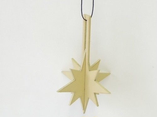 WOODEN joint ornament/sparkle