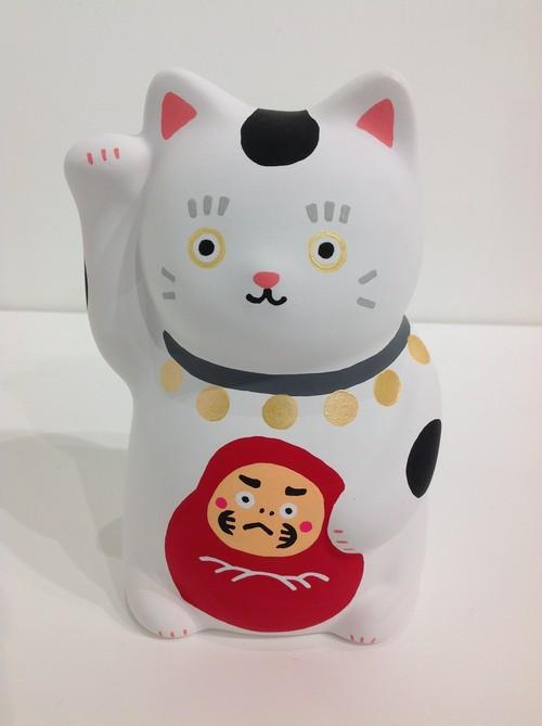 okamemono 招き猫 白