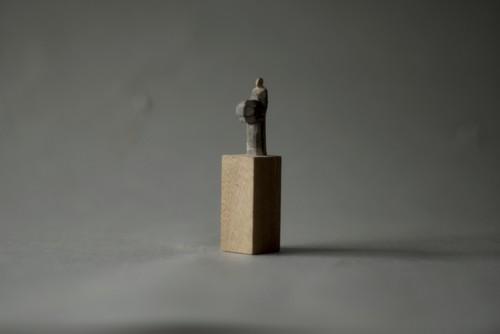 (077)wood figure-mini台付_046