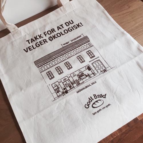 """【北欧雑貨】""""Godt brod"""" Organic cotton tote bag """"ゴッドブレッド""""オーガニックコットン トートバッグ"""