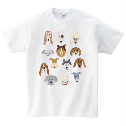 犬 Tシャツ メンズ レディース 半袖 おしゃれ 動物 プレゼント 大きいサイズ 綿100% 160 S M L XL