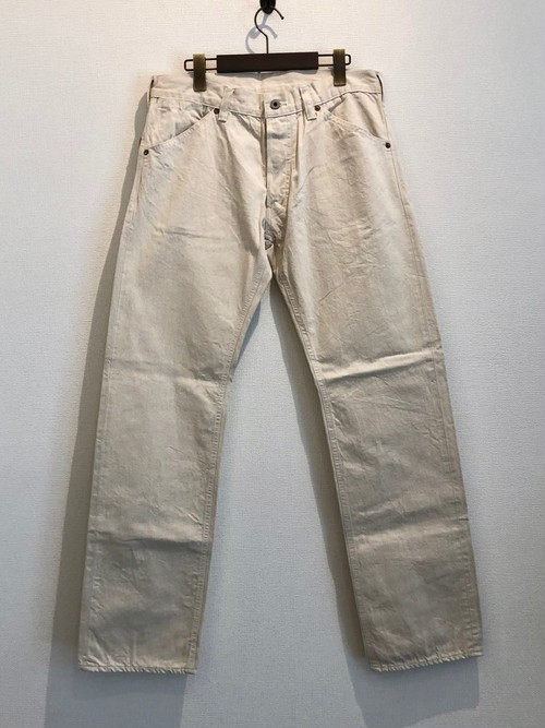 PP STRAIGHT PANTS <DENIM> (ECRU) / GERUGA