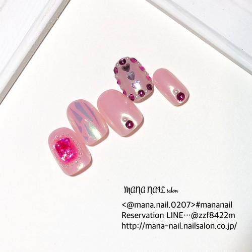 (80)新作 ピンク 緑 ミラー ゆめかわ ぷるぷる ネイルチップ オーダー