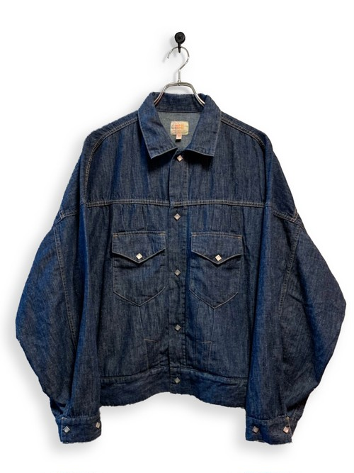 6.5oz Denim Western Short Jacket / one wash
