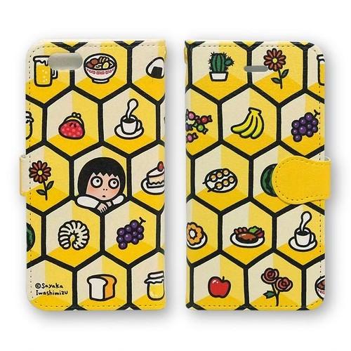 手帳型iPhoneケース(蜂の巣)11、11Pro Max、XS Max、XR、8Plus、7Plus、6Plus/6sPlus