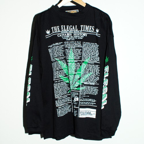 90s UK『elegal』L/S T-shirt *Deadstock