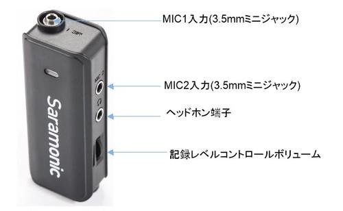 Saramonic社  LavMic   スマートフォン、GoPro4/3/3+、DSLRカメラ、ビデオカメラ用 ミニオーディオミキサー