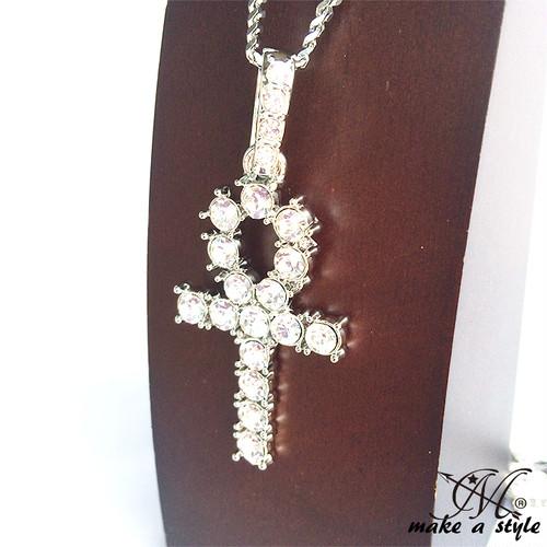 ジルコニア オープンクロス 十字架 ブリンブリン 銀 シルバー SILVER 680
