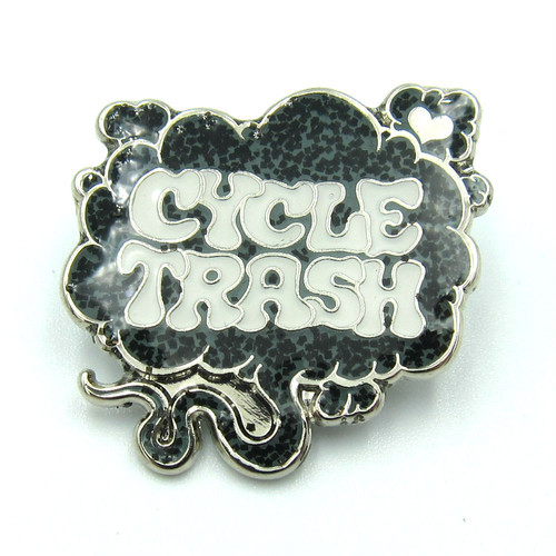 "Cycle Trash ""Fart"" logo pin badge, LTD:GRY"