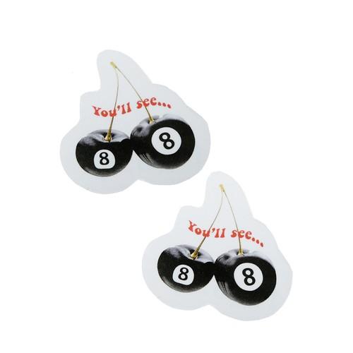 【Cat & Parfum】Cherry Eight Ball Clear Sticker