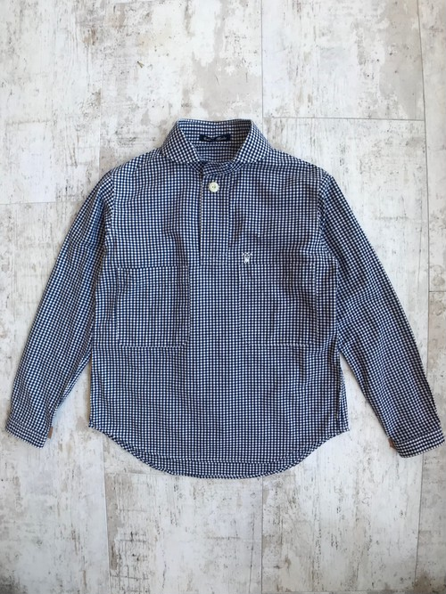 Gingham check deck man shirt