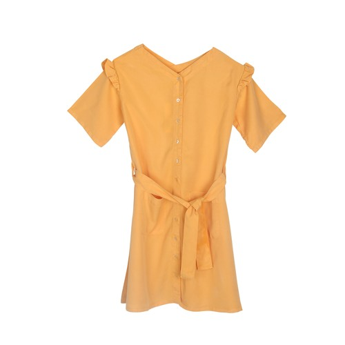 THE BIBIO PROJECT TIE DRESS(BEESWAX)