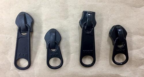 YKK スライダー 止水ファスナー アクアガード用  3c DFL 黒 つやあり/つやなし 1個