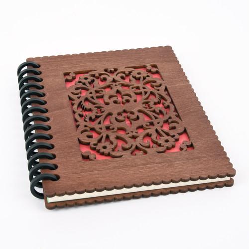 木のノートブックB  洋風唐草