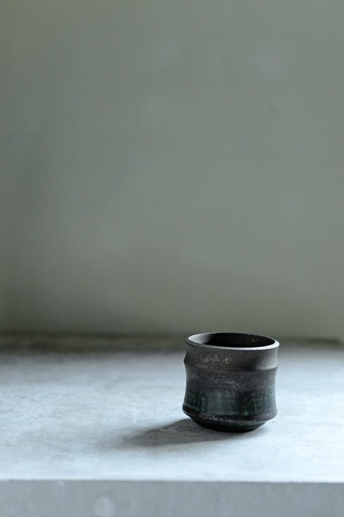 Mederu pot ビーンズ Two-tone 織部