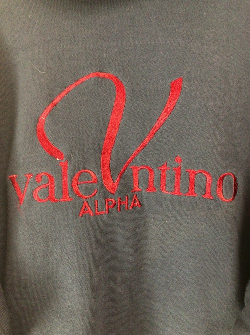 2000's faux valentino ALPHA sweat parka