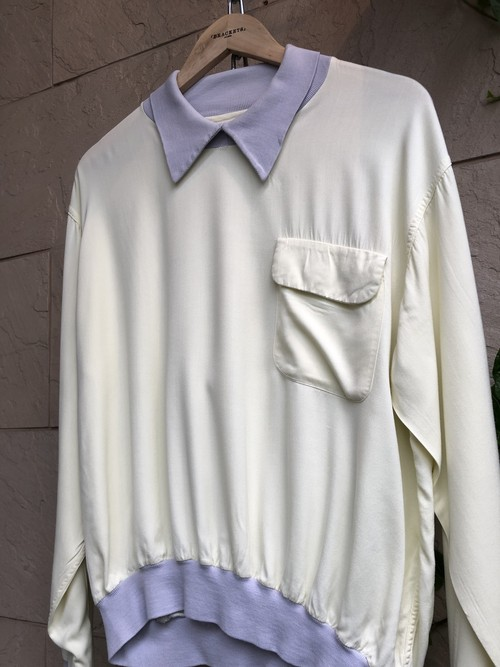 1950s American rayon shirts with collar made by VAN HEUSEN