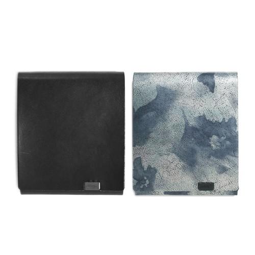 睡蓮画 フローラル(&ブラック) -ショートウォレット2.0-