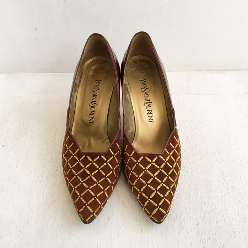 YSL leather pamps(size37)