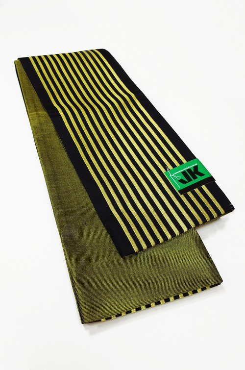 JUNKO KOSHINO縞小袋帯 レディース ポリエステル100% イエロー 半巾帯