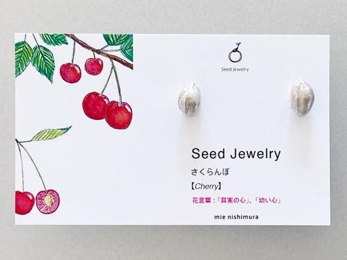 さくらんぼの種ピアス