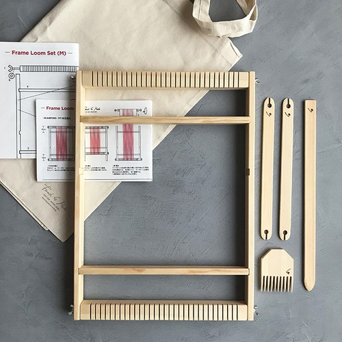 <Found & Made> Weaving Frame Loom Set / 手織り木枠セット (M)