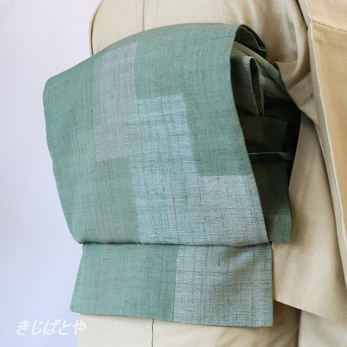 正絹紬 島松鼠の洒落袋