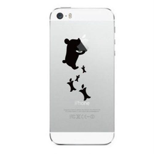iPhone Deco りんごマークの周りに貼るステッカー for iPhone5/5S/5C「くま」