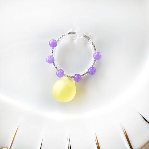 candy cuff【SV】lemon yellow×カルセドニー