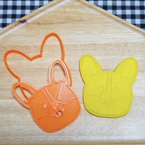 コーギーちゃん【お顔】3dプリンタークッキー型