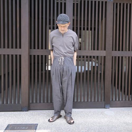 THE HINOKI コットン馬布5タックパンツ CHARCOAL BROWN#TH19W-13