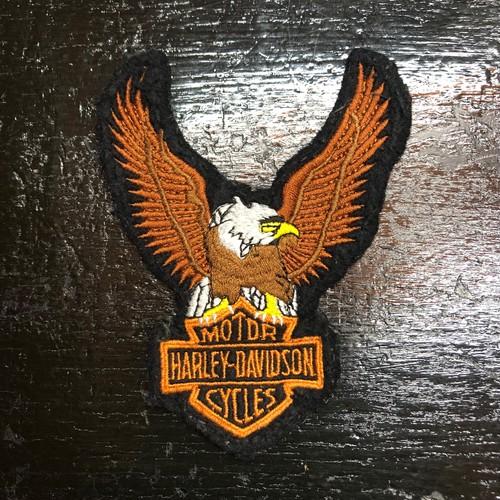 70-80's ハーレーダビッドン オフィシャル イーグル×バー&シールド ビンテージ 特大サイズ ワッペン HARLEY DAVIDSON