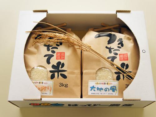 食べ比べお米ギフトセット 3kg×2ヶ