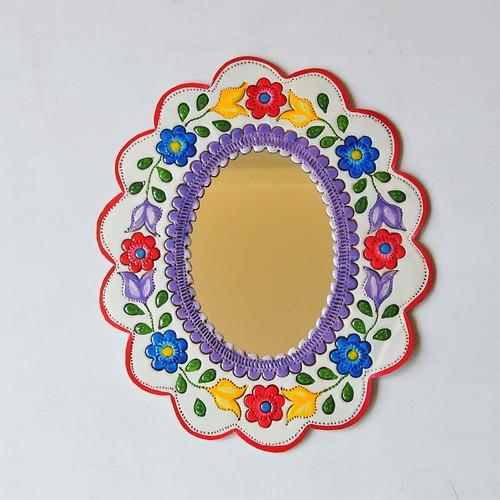 メキシコ ブリキ鏡(015)