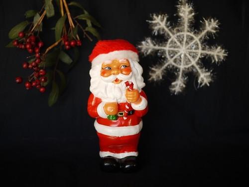 レトロ 光る赤鼻サンタ ミュージカル貯金箱 プラスチック
