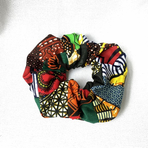 アフリカ布で作ったシュシュ⑩