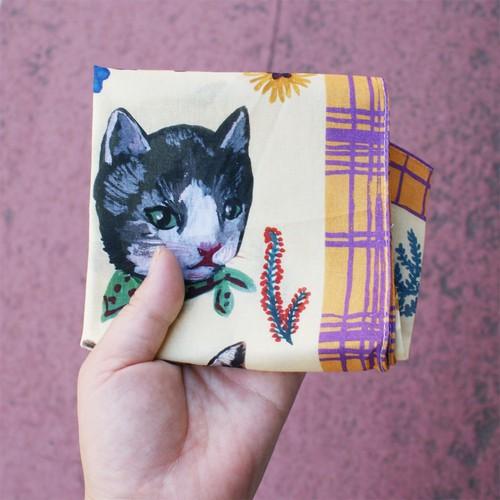 【再入荷】ナタリー・レテ 猫ハンカチ