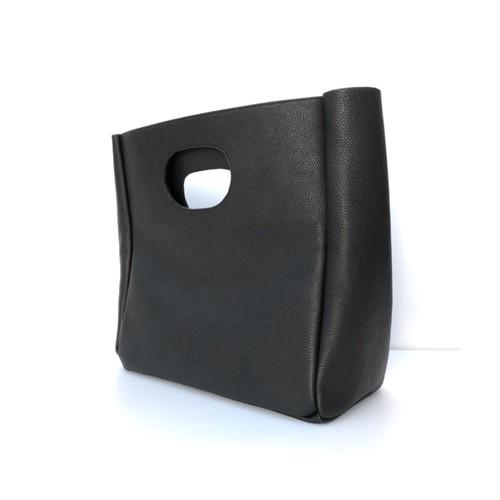 Box Leather bag/BLACK